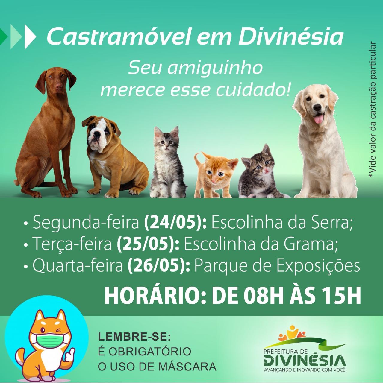 CASTRAMÓVEL ESTACIONA EM DIVINÉSIA NOS DIAS 24, 25 E 26 DE MAIO